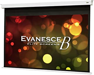 "Elite Screens Evanesce B, 120"" 16:9, Recessed In-Ceiling Electric Projector Screen with Installation Kit, 8k/4K Ultra HD Ready Matte White Fiberglass Reinforced Projection Surface, EB120HW2-E8"