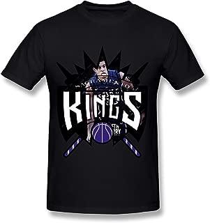 Geek Seth Curry Sacramento Kings Team Men's Tshirt Black Size S