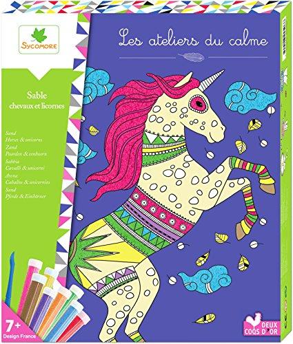Au Sycomore- Les Ateliers Du Calme-Quadri Sabbia-Cavalli E Unicorni-attività Creative Bambini-A Partire dai 7 anni-Sycomore-CREH506, CREH506