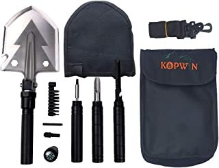 Folding Shovel and Camping Multitool – Survival Shovel with Heavy Duty Blade...