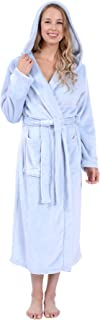 Patricia Womens Elegant Full Length Premium Plush Hooded Robes