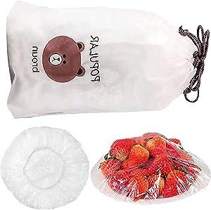 100 Pcs Fresh Keeping Bags, Reusable Elastic Food Storage Covers, Plastic Sealing Bags Food Cover, Elastic Stretch Adjustable Bowl Lids, Universal Kitchen Wrap Seal Caps.