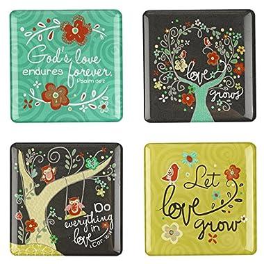 Love Grows Inspirational Fridge Magnet Set (4)