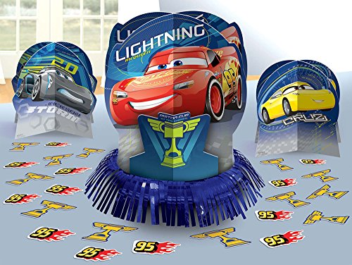 amscan Cars 3 Table Decorating Kit 23 Piece Centerpiece