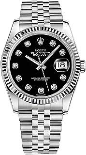 Rolex Datejust 36 116234 Black Dial with Diamonds Luxury Watch