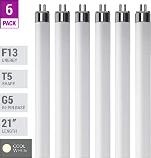 (Pack Of 6) F13T5/CW - T5 Fluorescent 4100K Cool White - 13 Watt - 21