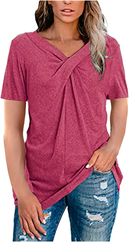 Womens Short Sleeve V-Neck Tee Casual Popular Raglan Blouse T-Shirt Tops Tunics