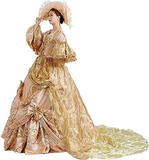 Zukzi Women's Gorgeous Victorian Train Ball Gown Wedding Dress