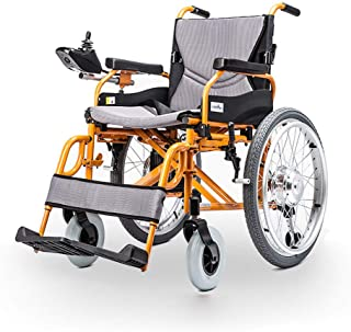 YOLANDEK Mobile Wheelchair, Intelligent Remote Electric Motorized Wheelchair, Portable Folding Lightweight Power Wheel Chair - Weights Only 55Ibs-500W Brushless Motor -Can Bear 350 lbs
