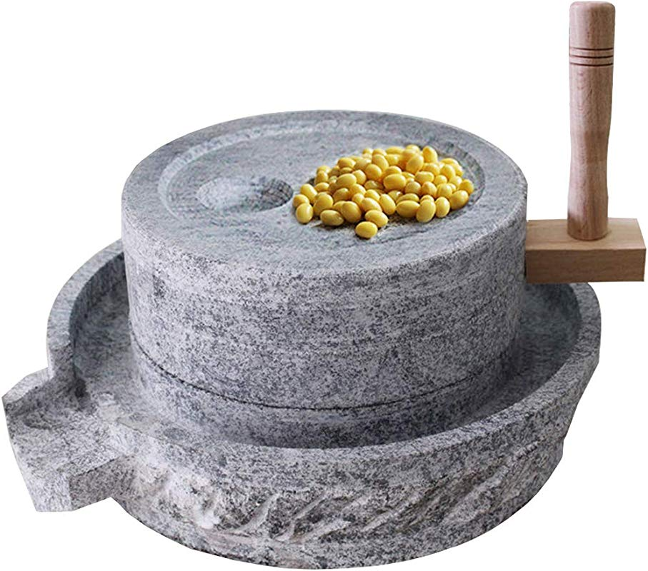 Gnirue Natural Bluestone Handmade Stone Mill Grinder 11 8Wx15 7L