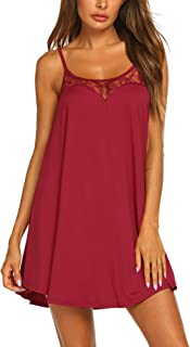 Sexy Lingerie Sleeveless lace Nightgown Adjustable O Neck Full Camisole Slip Dress S-XXL