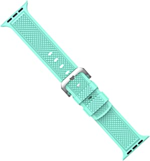 Silicone Band for Watch Series 4 3 2 1 Sport Strap for iWatch Colorful Soft Replacement AW Adapter 38 40 42 44mm,Mint Green,for 42 44mm AW