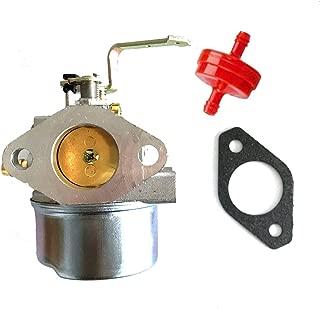 HQparts Generator Carburetor Coleman Maxa 5000 ER Plus 10hp Tecumseh Powerbase Powermate PM0525202 Carb & Fuel Filter