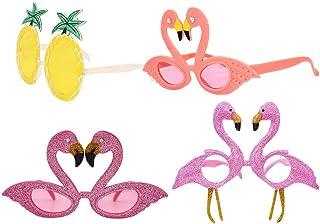 6570cd3353 Amosfun Piña Flamingo Gafas de Sol Fruto Divertido Hawaiian Tropical Theme  Gafas Hawaiian Beach Party Supplies