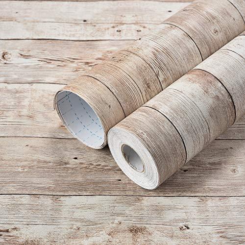 壁紙 シール 厚手 Harmn home カッティングシート リメイクシート 木目 はがせる カッティングシート のり付き 防水 ウオールステッカー ……… (アンテイークブラウン45cmX10m)厚さ:0.13mm…