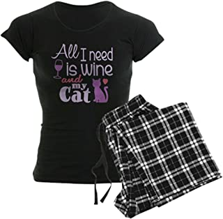 Wine Cat Ii Women39;S Dark Pajamas Women's PJs