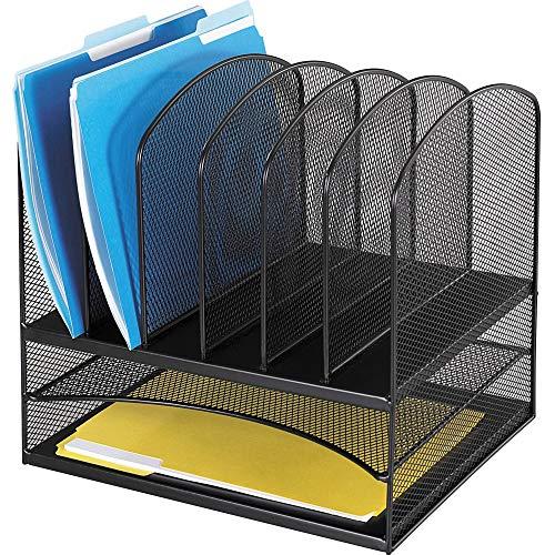 Safco Products Onyx Mesh 2 Tray/6 Sorter Desktop Organizer 3255BL,...