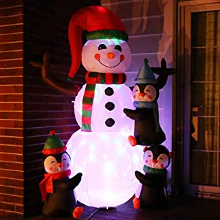 6ft inflatable snowman