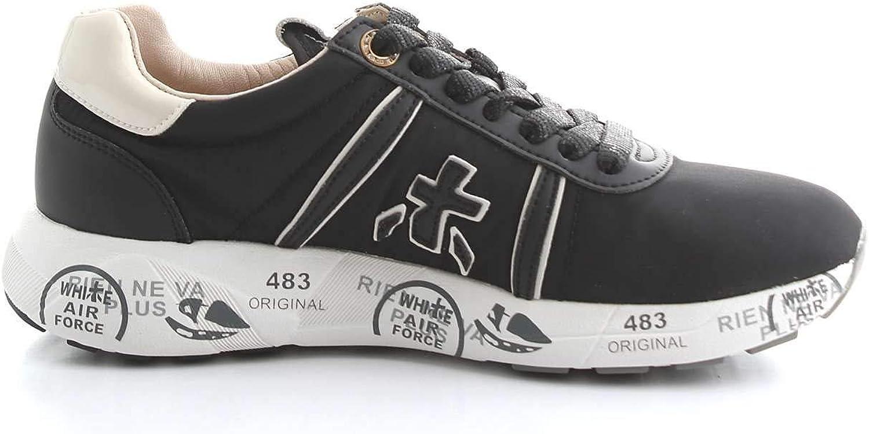 Premiata Women's MATTEWDVAR3876VAR3876 Black Fabric Sneakers