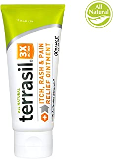 Itch and Rash Cream –All Natural for Grovers Disease Erythrasma Intertrigo Pruritus ANI Miliaria Poison Ivy Oak Sumac Bug Bites Fast Acting 100% Guaranteed by Terrasil