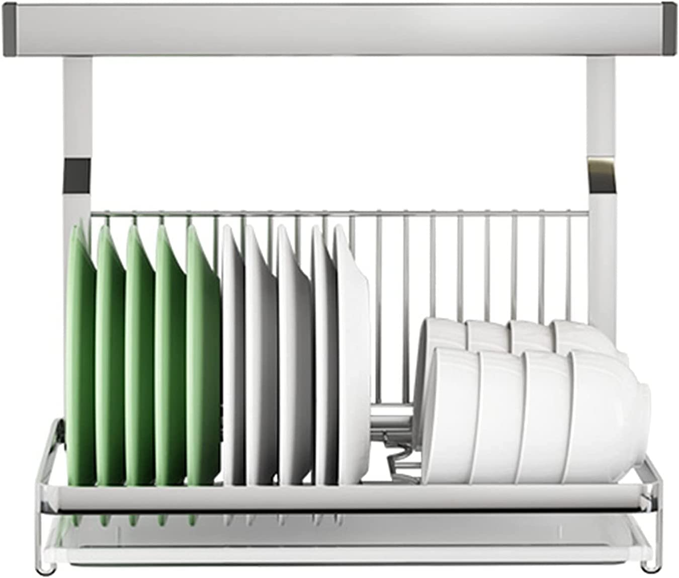 304 Stainless Steel Max 64% OFF Wall-Mounted Max 43% OFF Dish Rack Drain Silver