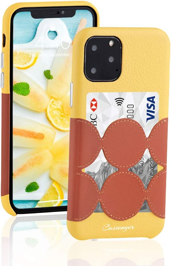 Cassenger [Sweet Series] Leather Wallet Case Compatible with iPhone 11 Pro 5.8