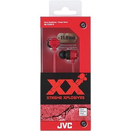 JVC HAFX102R XX Xtreme Bass Earbuds, Red
