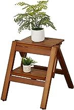 Klappbarer Tritthocker Trittleiter Klappleiter aus Holz 3-Stufen-Treppenstuhl Lightweight Home Library Step Stool Color : 2