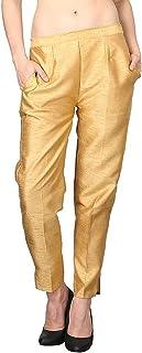 Damen Mode Women's Cotton Silk Straight Pant