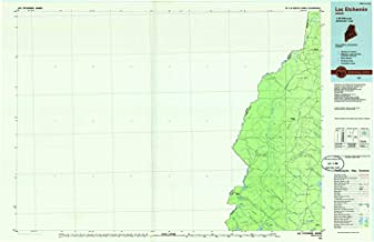 YellowMaps Lac Etchemin ME topo map, 1:100000 Scale, 30 X 60 Minute, Historical, 1986, Updated 1986, 24.2 x 37.4 in