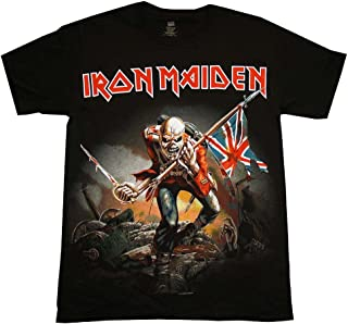Kiditude Iron Maiden Trooper Eddie Toddler T-Shirt, 4T Black