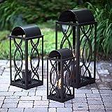 Terra Flame 700953164254 Augusta Collection Lantern, Medium-26.5in, Bronze