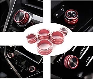 Lanyun for Camry Accessories Console Knob Cover Decorate AC+Audio+Function+Rear Mirror Knob Button for Toyota Camry 2018-2...