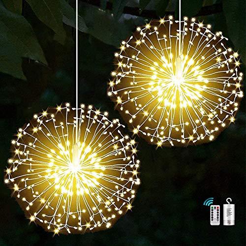 Yowin 2 Pack Firework Lights 198 LED Copper Wire Starburst Lights 8 Modes...