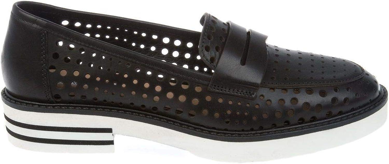 womenPIU' Women's 52876RACHELEVACCHETTAblack Black Leather Loafers