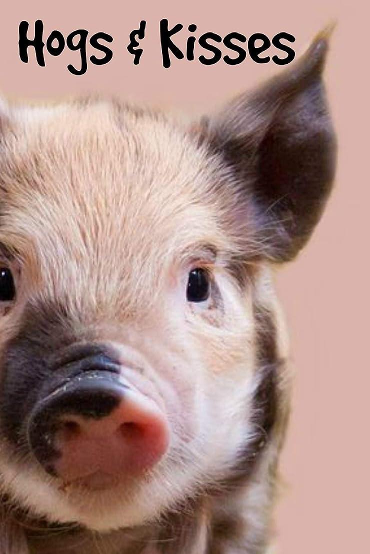 参照自発戸棚Hogs and Kisses: Cute and Funny Pun Pig Quote Personalised Homework Book Notepad Notebook Composition and Journal Gratitude Diary gift