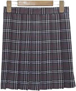 f2da07c57 YoungG-3D Women Fashion Summer High Waist Pleated Skirt Wind Cosplay Plaid  Skirt Kawaii Female
