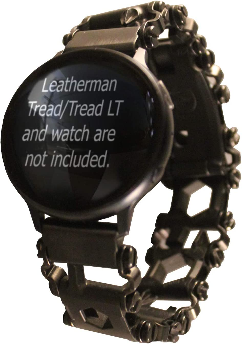 BestTechTool watch adapter compatible with LEATHERMAN TREAD and compatible with other smart watches - BTT adapter (Samsung Galaxy 46mm, Black-TREAD)