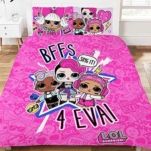 LOL Surprise Bettwäsche-Set, Polycotton, Mehrfarbig, Einzelbett