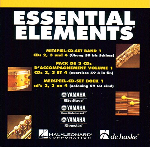 ESSENTIAL ELEMENTS MITSPIEL-3er CD-SET zu BAND 1 - enthält CD 2 , 3 , 4 passend arrangiert zur gleichnamigen Notenausgabe [Noten / Sheetmusic] aus der Reihe: YAMAHA BLÄSERKLASSE