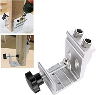 3 in 1 DIY Wood Dowel Hole Jig Drill Bit Kit Woodworking Locator Puncher