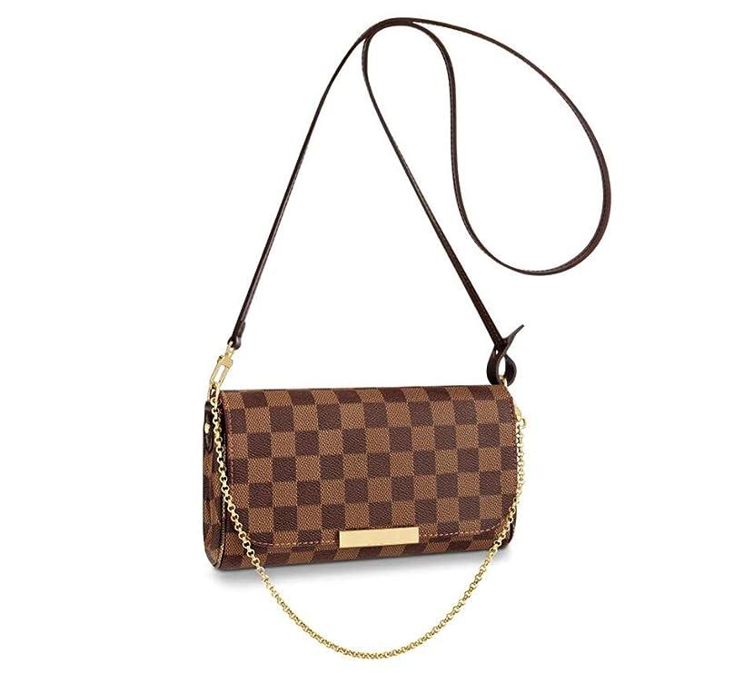 Women's Canvas Pochette Favorite MM Double-use Chain Flap Bag Small Crossbody Bag Shoulder Bag (damier ebenn PM)