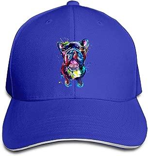 Women's/Men's French Bulldog Pug Pit Bull Pet Adult Adjustable Snapback Hats Sandwich Cap
