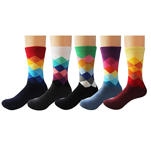 bf3722ee7a03 Deer Mum Men Novelty Funny Fashion Colorful Designed Soft Crew Dress Socks  Pack …