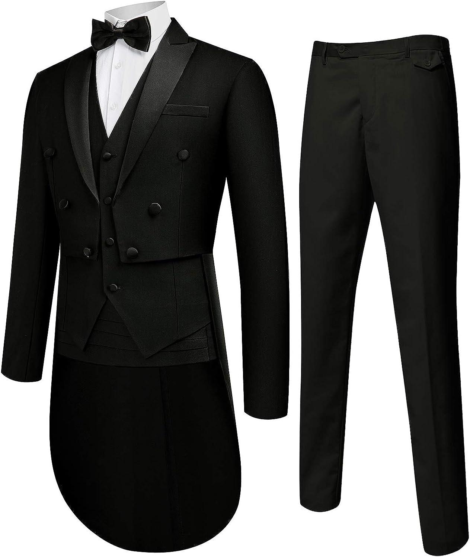 MAGE MALE Men's Suit Slim Max 74% OFF fit Great interest Formal Wedding Tuxedo Gent 5