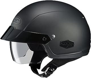 HJC IS-Cruiser Motorcycle Half-Helmet (Matte Black, Large)