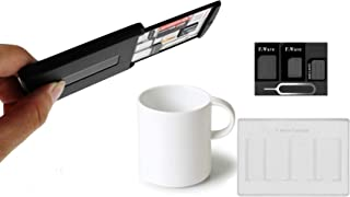 F.Wave 【SIM 収納 パワーグリップケース + 二段収納 SIMホルダー + F.Wave アダプター 4点 SET 】粘着式 Power Grip Tech SIM/Micro SD カード 紛失防止 持ち運び 収納ケース...