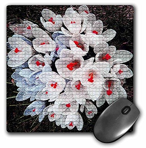 Sandy Mertens Bloem Ontwerpen - Lente Crocus Bloemen Mozaïek Tegels - MousePad (mp_17236_1)