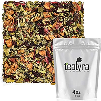 Tealyra - Pink Berry Moringa - Strawberry - Hibiscus - Fennel - Wellness Herbal Loose Leaf Tea - Digestiv and Detox - Caffeine Free - 112g (4-ounce) by Tealyra