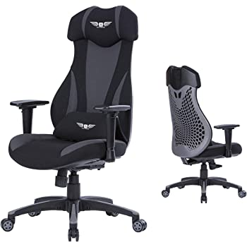 Acethrone Gaming Chair Racing Chairs, High Back Chair for Adults with Ergonomic Design, Task Chair with Adjustable Headrest and Armrest, Comfort Lumbar Support, Suitable for Office/Game Room (Gray)